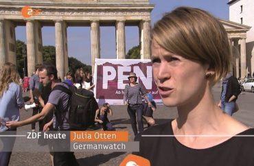 Foto von Julia Otten am Erdüberlastungstag, Bildquelle: ZDFheute 8.8.2016