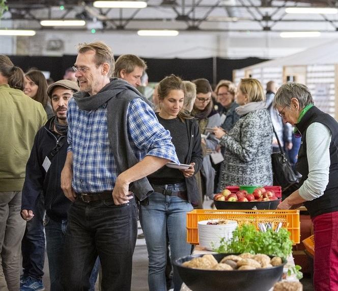 Vokü aus geretteten Lebensmitteln (von Fläming Kitchen) auf der Bundeskonferenz der Eine Welt-Promotor*innen 2018 in Berlin.