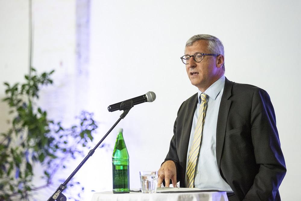Hr. Dr. Felmberg (BMZ) auf der Bundeskonferenz der Eine Welt Promotoren 2018 in Berlin