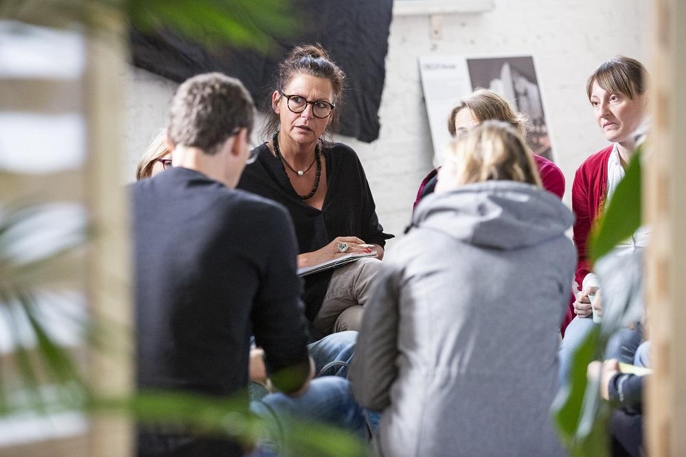 Vera Dwors und weitere Eine Welt Promotor*innen auf der Bundeskonferenz 2018 in Berlin