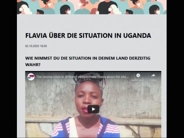 Screenshot eines Videos einer schwarzen Frau mit der Überschrift
